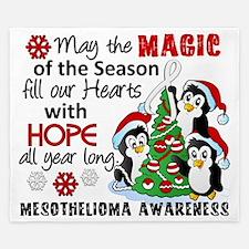 D Mesothelioma Christmas Penguins King Duvet