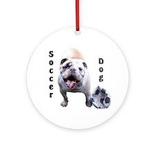 Soccer Dog Ornament (Round)