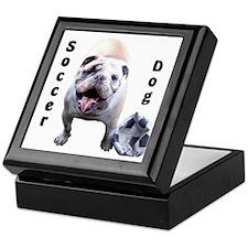 Soccer Dog Keepsake Box