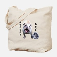 Soccer Dog Tote Bag