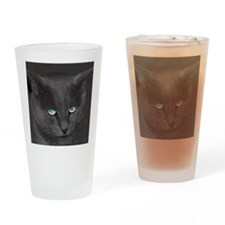Unique Cat w/ Cool Eyes Drinking Glass