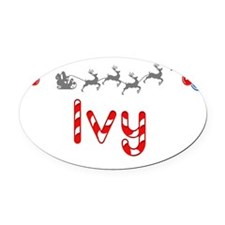 Ivy, Christmas Oval Car Magnet