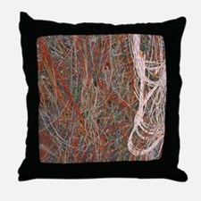 Heathkit computer wires Throw Pillow