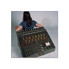 "Heathkit H-1 analog compute Square Sticker 3"" x 3"""