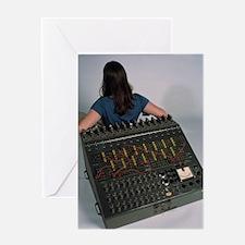 Heathkit H-1 analog computer Greeting Card