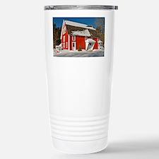 Winter Barn Greeting Ca Stainless Steel Travel Mug