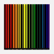 LGBTQI PRIDE Bar Code Tile Coaster
