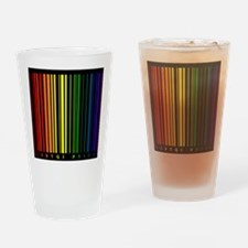 LGBTQI PRIDE Bar Code Drinking Glass
