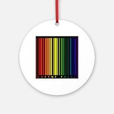 LGBTQI PRIDE Bar Code Round Ornament