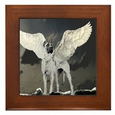 Great Dane Framed Tile