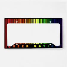 Queer Nation Bar Code License Plate Holder