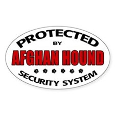 Afghan Hound Security Oval Decal