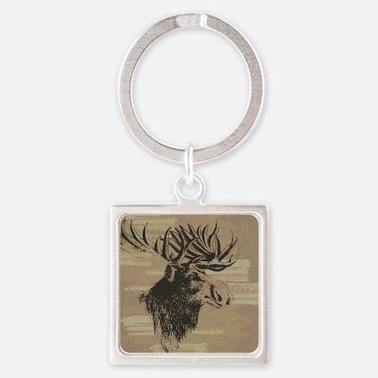 Big Moose Square Keychain