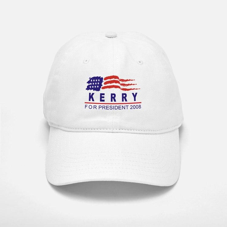 John Kerry 2008 (wave) Baseball Baseball Cap