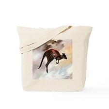Hopping Kangaroo Tote Bag