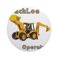 Back Hoe Round Ornament