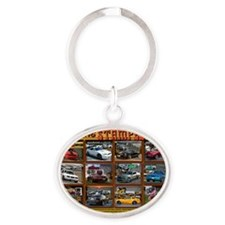 COVER-stampede Oval Keychain