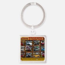 COVER-stampede Square Keychain