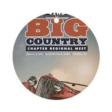 Big Country Round Ornament