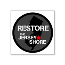 "Restore The Jersey Shore Square Sticker 3"" x 3"""