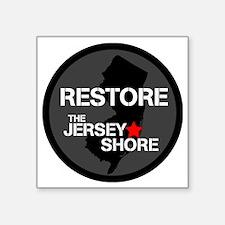 """Restore The Jersey Shore Square Sticker 3"""" x 3"""""""