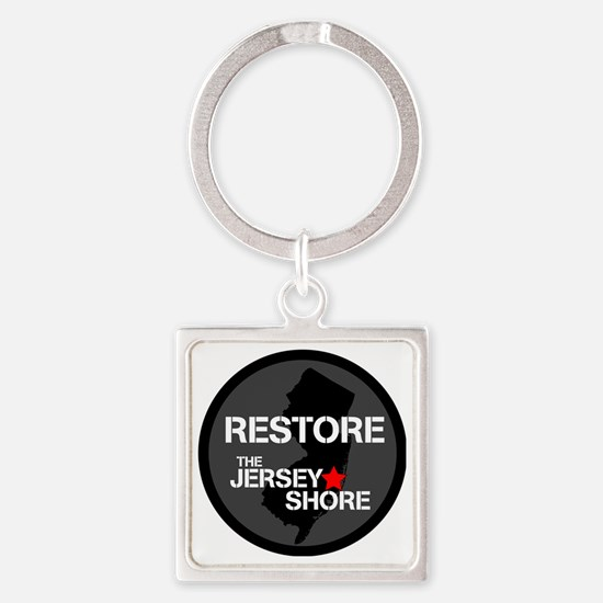 Restore The Jersey Shore Square Keychain