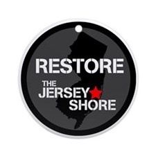 Restore The Jersey Shore Round Ornament