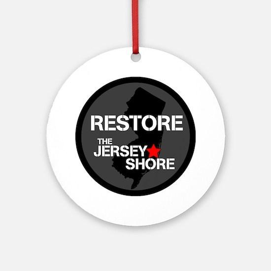 Restore The Jersey Shore Round Ornament