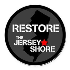 Restore The Jersey Shore Round Car Magnet