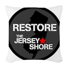 Restore The Jersey Shore Woven Throw Pillow