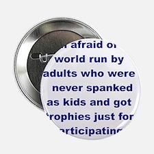 "IM AFRAID OF A WORLD RUN ADULTS  WHO. 2.25"" Button"