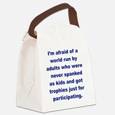 IM AFRAID OF A WORLD RUN ADULTS   Canvas Lunch Bag