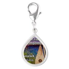 4th Annual Bowed Psaltery S Silver Teardrop Charm