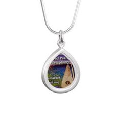 4th Annual Bowed Psalter Silver Teardrop Necklace