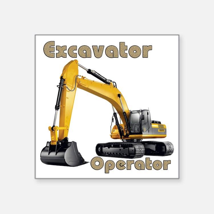 Heavy Equipment Decals : Excavator bumper stickers car decals more