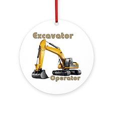 Excavator Round Ornament