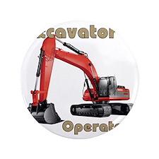 """Red Excavator 3.5"""" Button"""