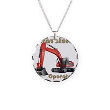 Red Excavator Necklace