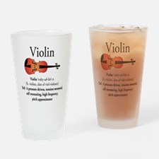 Violin Pitch Approximator Drinking Glass