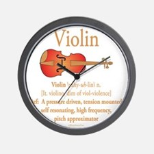 Violin Pitch Approximator Wall Clock