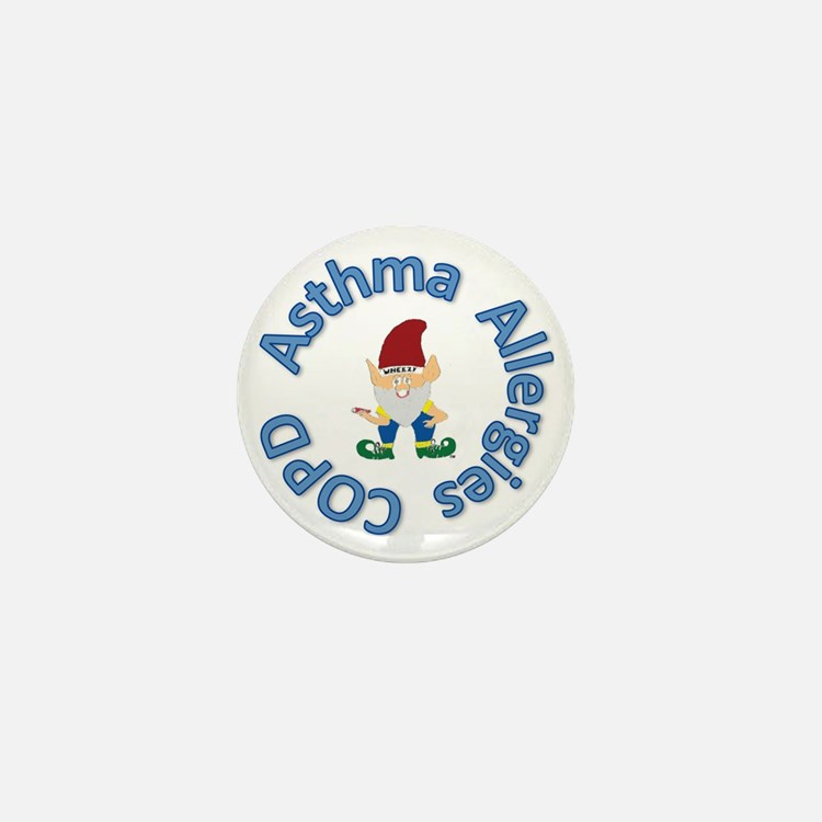 Asthma,Allergy,COPD in Blue Mini Button