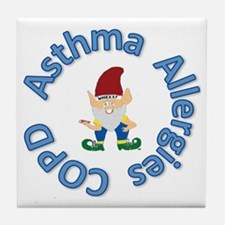 Asthma,Allergy,COPD in Blue Tile Coaster