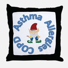 Asthma,Allergy,COPD in Blue Throw Pillow