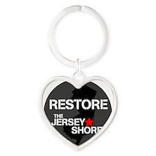 Restore The Jersey Shore Heart Keychain