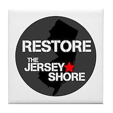 Restore The Jersey Shore Tile Coaster