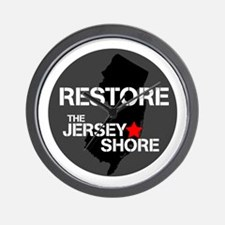 Restore The Jersey Shore Wall Clock