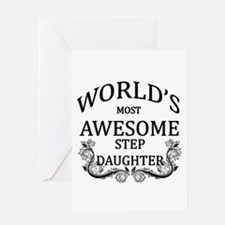 World's Most Awesome Step-Daughter Greeting Card