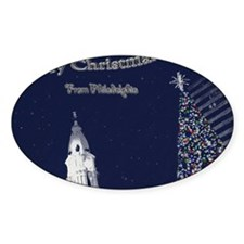 Merry Christmas from Philadelphia Decal