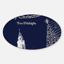 Merry Christmas from Philadelphia Sticker (Oval)