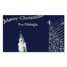 Merry Christmas from Philadelp Decal